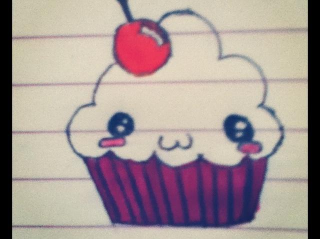 640x478 How To Draw A Kawaii Cupcake