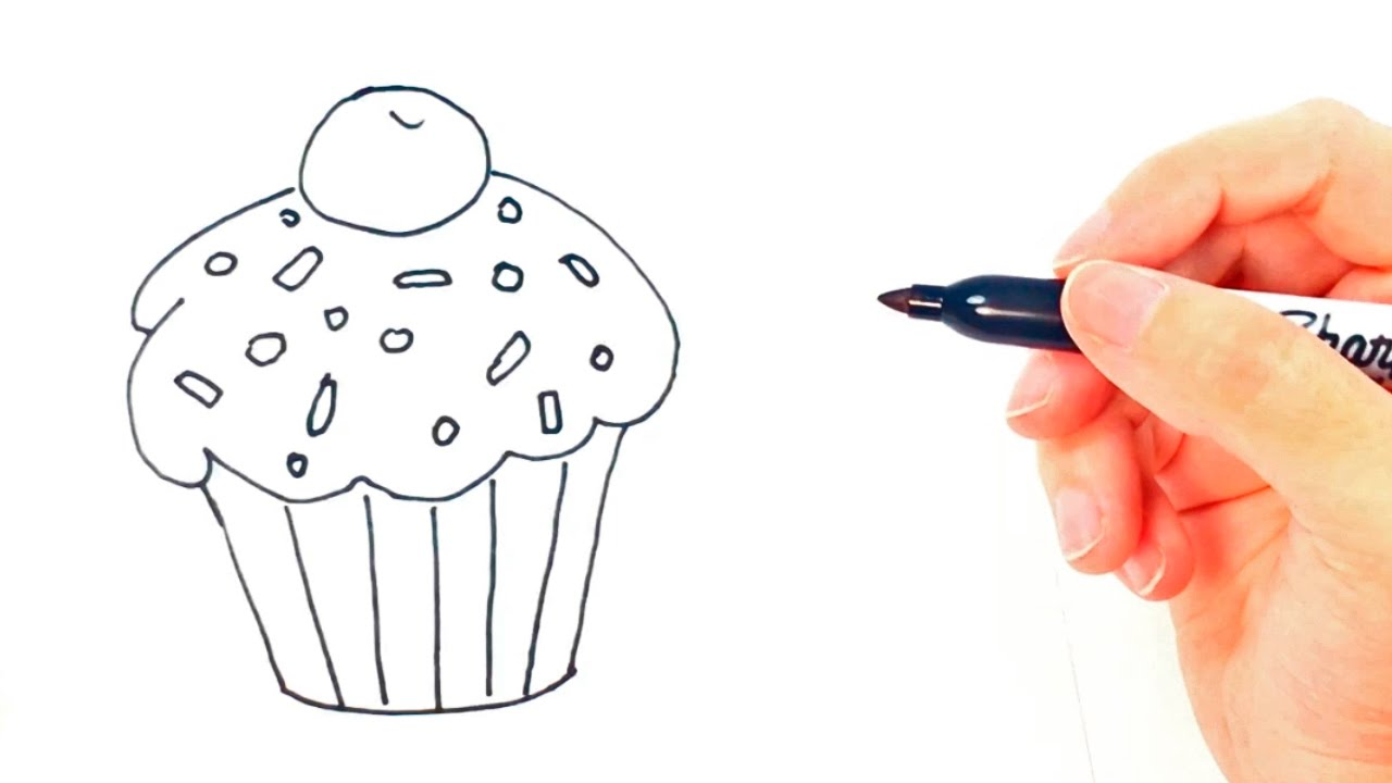 1280x720 How To Draw A Cupcake For Kids Cupcake Drawing Lesson Step By