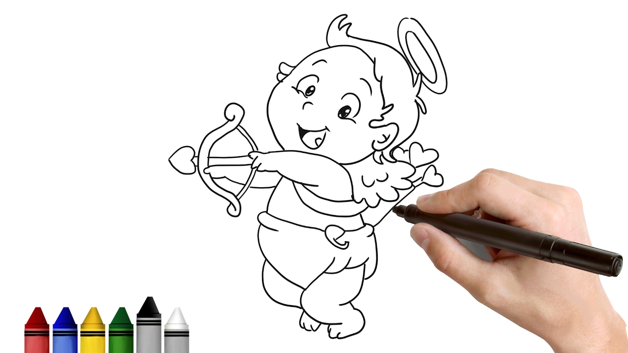 1280x720 How To Draw Cupid Drawing For Kids Tutorial