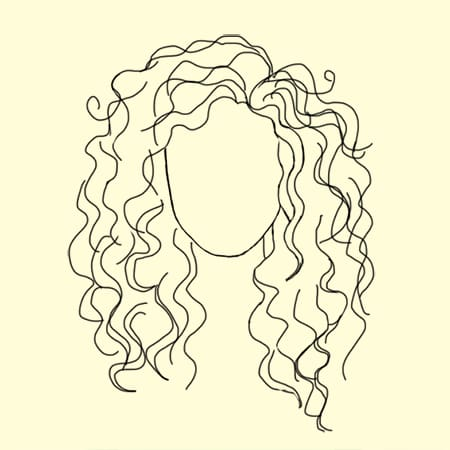 Curly Hair Drawing At Getdrawings Com Free For Personal