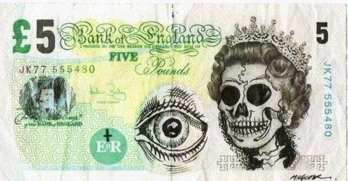 500x260 Currency, Drawing, England, Eye, Money, Skull