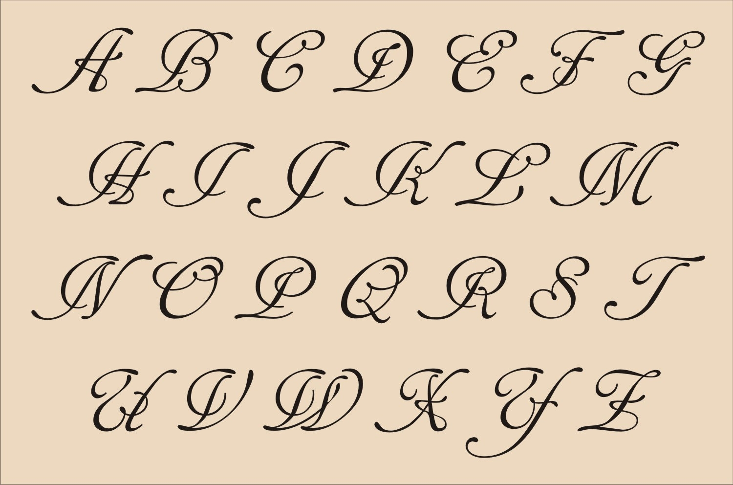 1500x992 Cursive Alphabet Drawing Alphabet Letters In Fancy Cursive Fancy