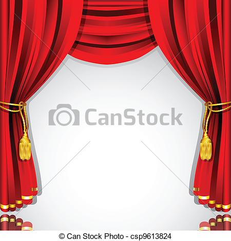 450x470 Illustration Of Silk Stage Curtain With White Backdrop Eps Vector