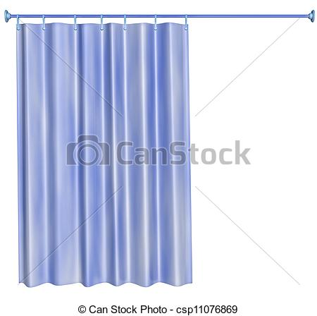 450x448 Shower Curtain Stock Illustration