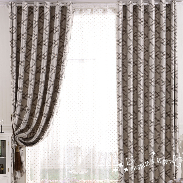 640x640 Free Shipping Modern Brief Quality Finished Curtains Drawing Room
