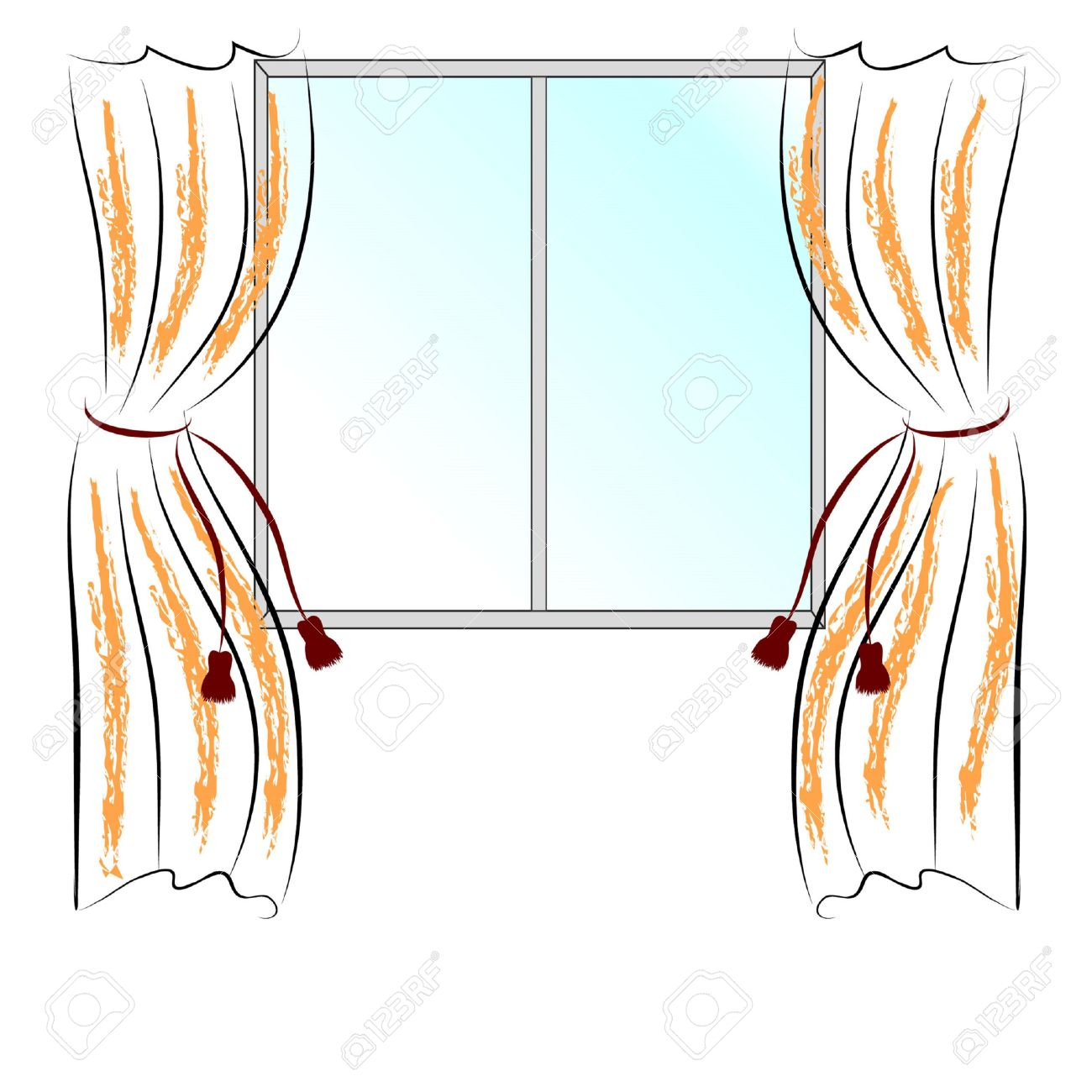 1300x1300 Drawing Curtains Pictures Simple Drawing Window And Two Curtains