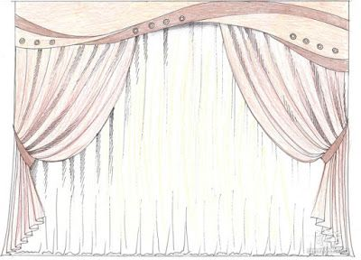 400x288 Exellent Window Drapes Drawing Fancy Curtains In Design