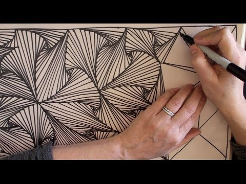 480x360 Speed Doodling 2 (Speed Drawing, Zentangle, Doodle, Pursuit Curves
