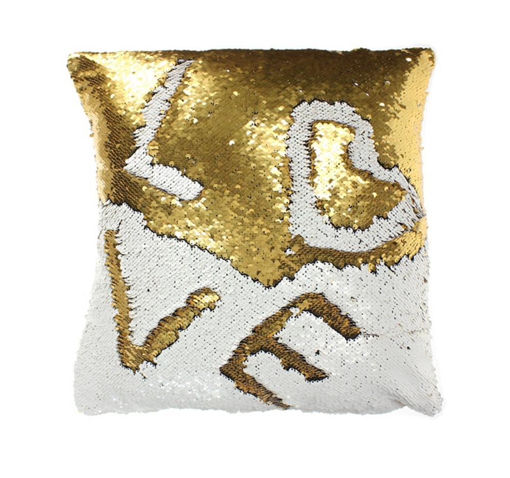 1000x937 Mermaid Sequin Throw Pillows Drawing Decorative Cushion
