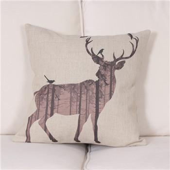 350x350 Watercolorpencil Drawing Deer Cushion Cover Lovepeaceboho