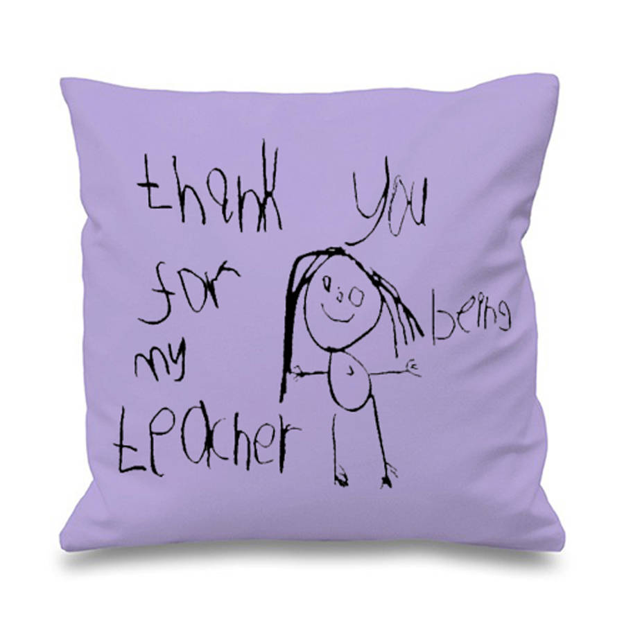 900x900 Personalised Cushion With Child's Drawing By Lukedrewthis