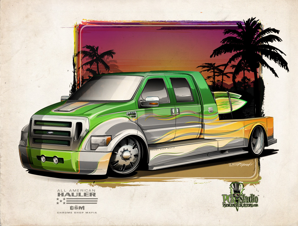 950x720 A Custom, Hauler Bodied F 650 With A Little Surf Flare.