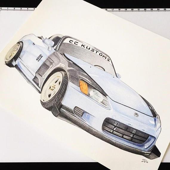 570x570 Custom Car Drawing