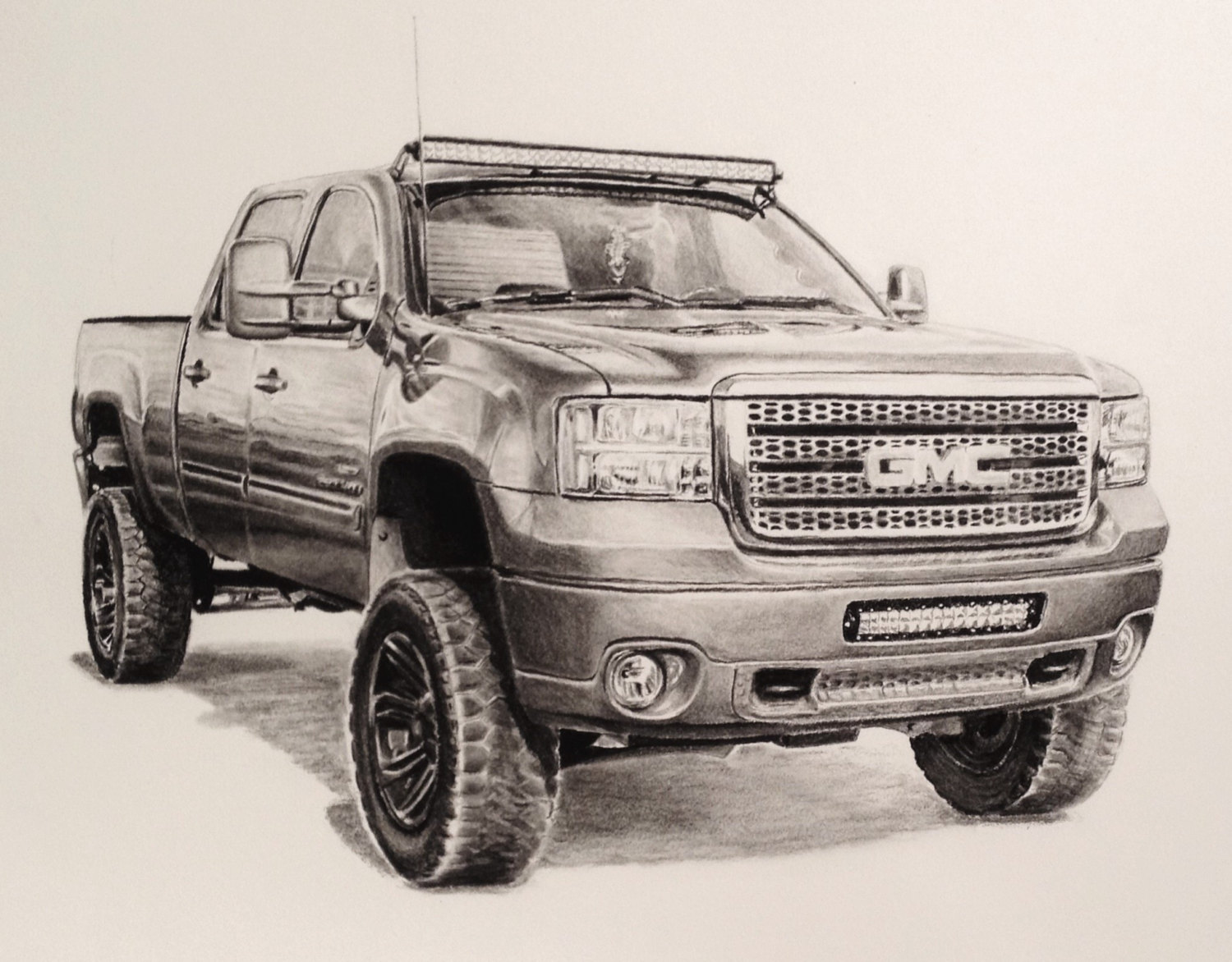 1500x1172 Custom Charcoal 11 X 14 Inch Drawing Of Truckcar From Photo
