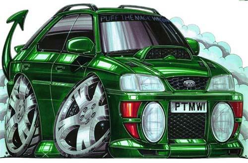 500x328 Drawings Amp Art On Cars! Cartoons Custom Cars