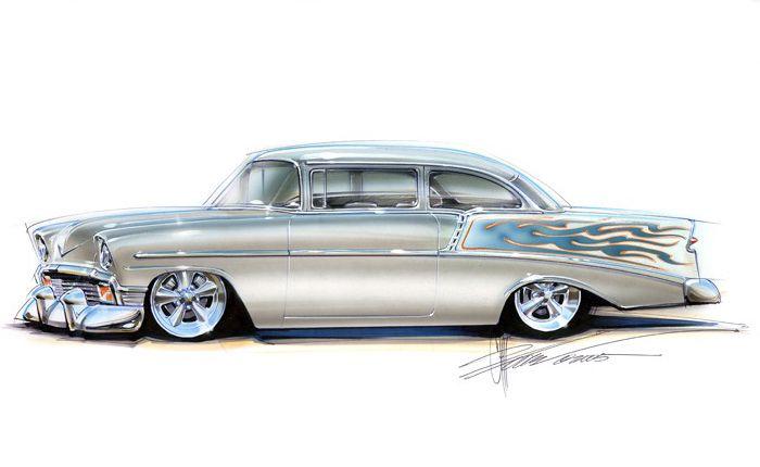 700x430 Chip Foose Customs Chip Foose Custom Car Drawings 1956 Chevy