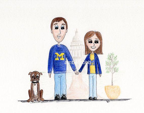 570x448 Custom Family Portrait Caricature Cartoon, Caricatures And Portraits