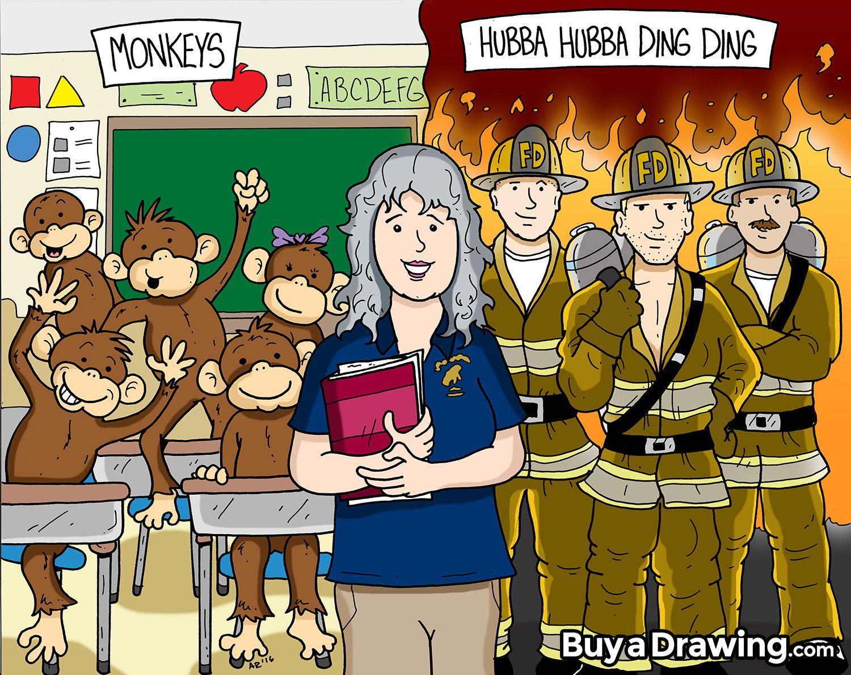 1500x1189 Custom Cartoon Drawings Make Great Gifts For Teachers, Like This