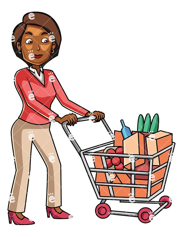 585x755 A Young Black Woman Grocery Shopping