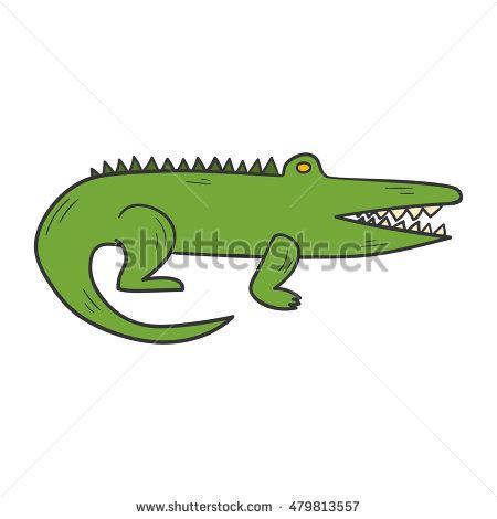 450x470 Australian Crocodile Drawing
