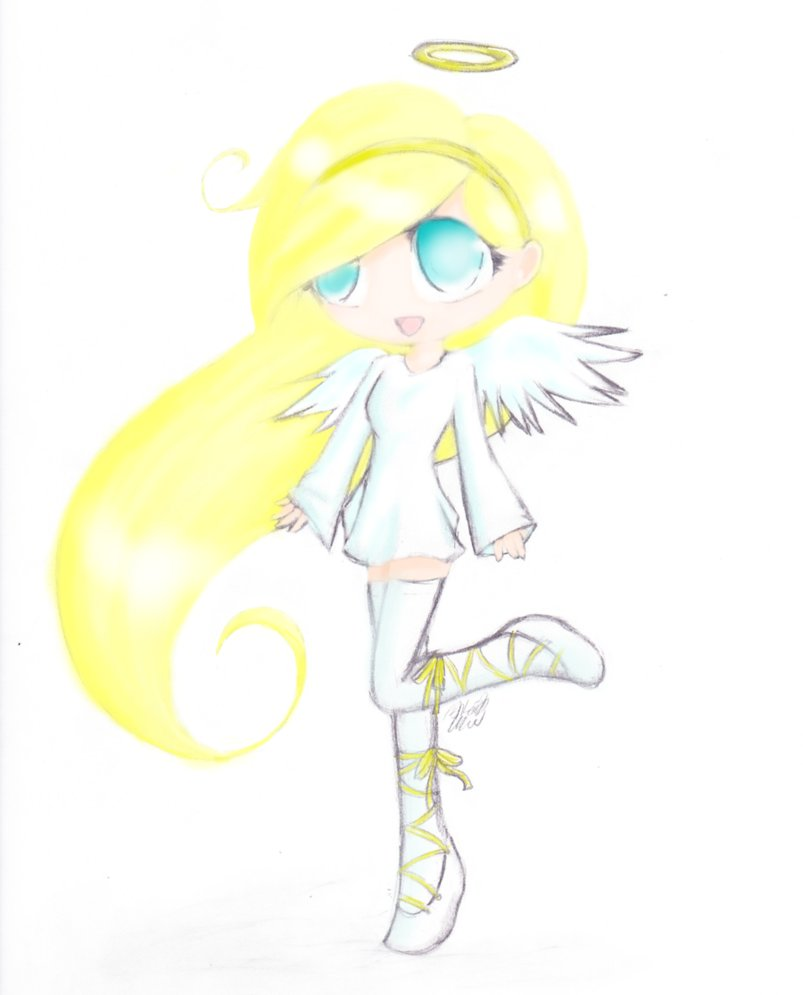 803x995 Cute Chibi Angel By Drae Drae
