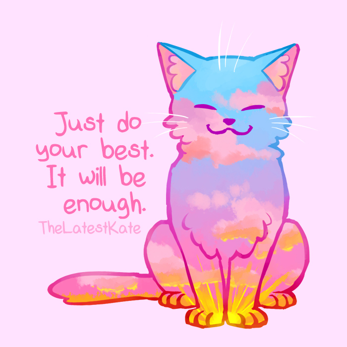 700x700 Cute Animal Illustrations Merged With Powerful Motivational Quotes