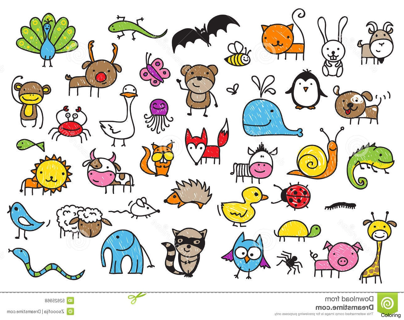 cute animals drawing at getdrawings com free for personal use cute