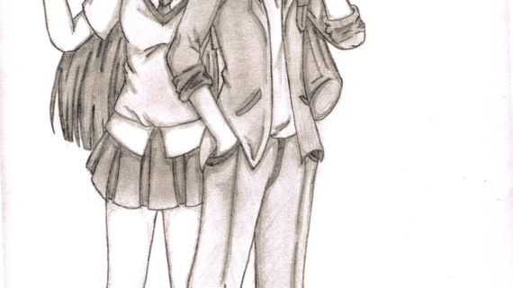 570x320 anime drawings of couples cute anime couple by olivevanilla love