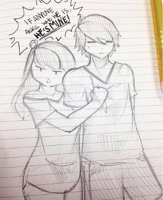 Art Anime Couple Pencil