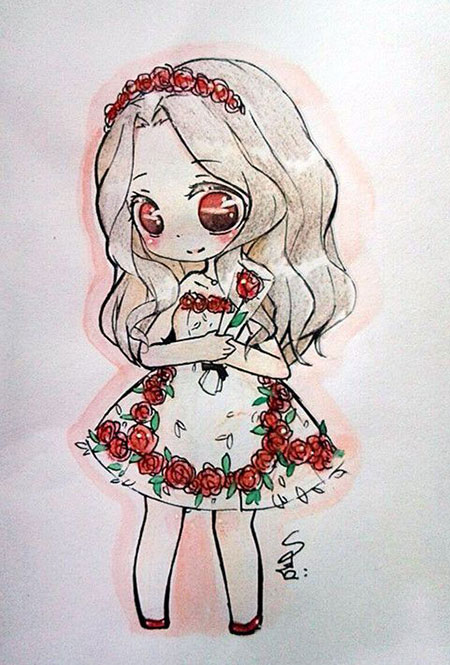 450x665 Cute Anime Drawing~ Chibi Drawings, Anime And Chibi