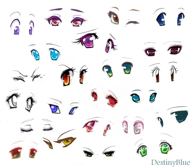 799x695 Anime Eyes By Destinyblue