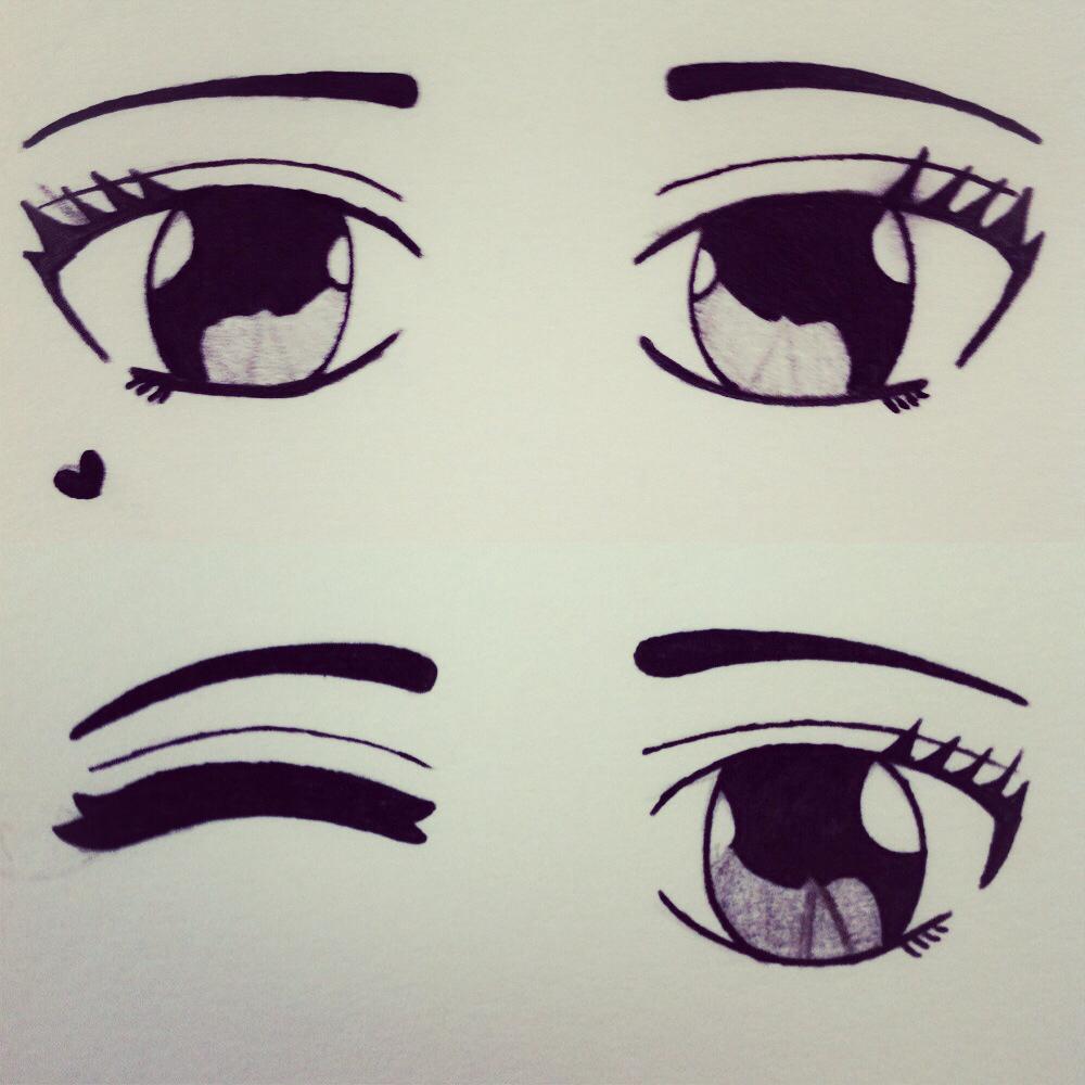1000x1000 Cute Drawings Cute Anime Eyes Drawing Drawing