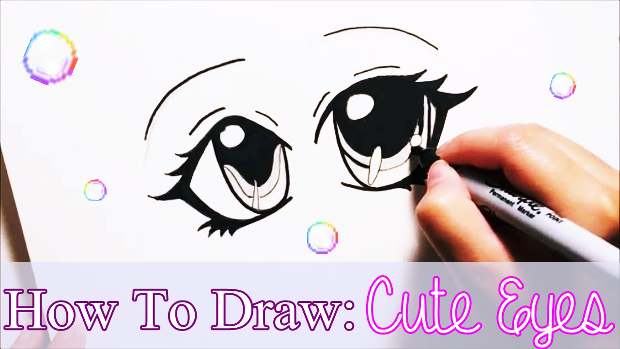 1280x720 How To Draw Cute Anime Eyes For Beginners