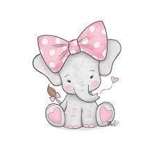 225x225 Cute baby elephant cartoon sitting Murales Pinterest Baby