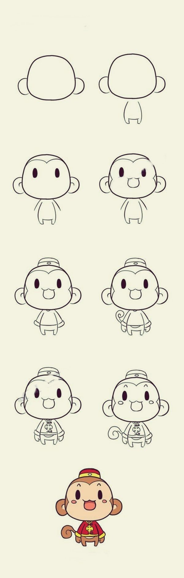 600x1885 How To Draw Cute Baby Animals Step By Step