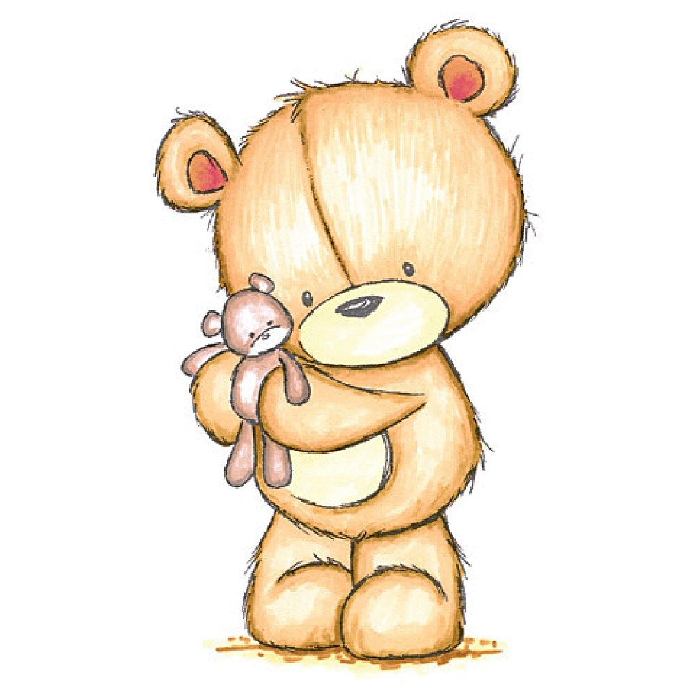 1000x1000 Cute Baby Bear Drawing The Drawing Of Cute Teddy Bear Sitting