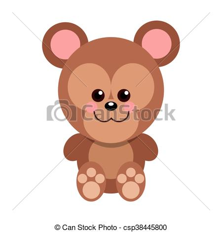 450x470 Cute Baby Bear Cartoon Isolated Vector Illustration Vector Clipart