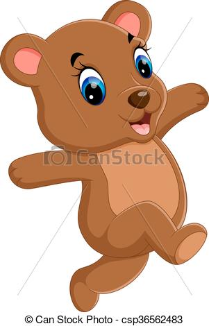 301x470 Illustration Of Cute Baby Bear Cartoon Vector