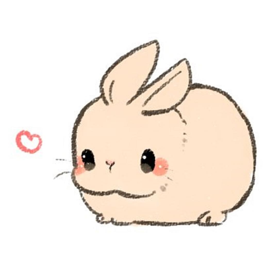 1024x1024 Bunny Sketch Cute