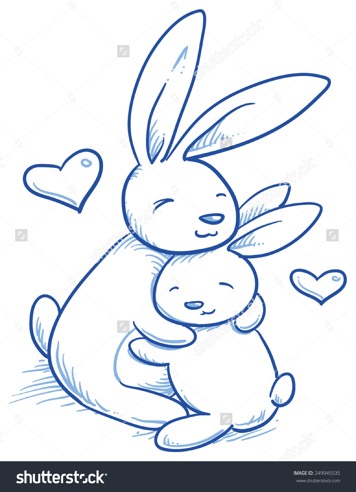 1158x1600 Cute Baby Bunny And Adult Cuddling, Hugging, Happy, For Easter Or