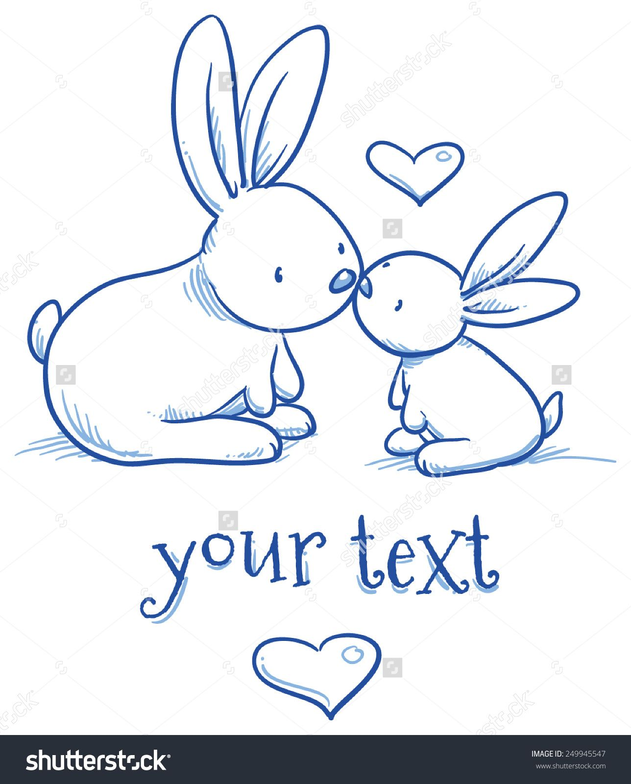 1288x1600 Stock Vector Cute Baby Bunny And Adult Kissing Hugging Happy