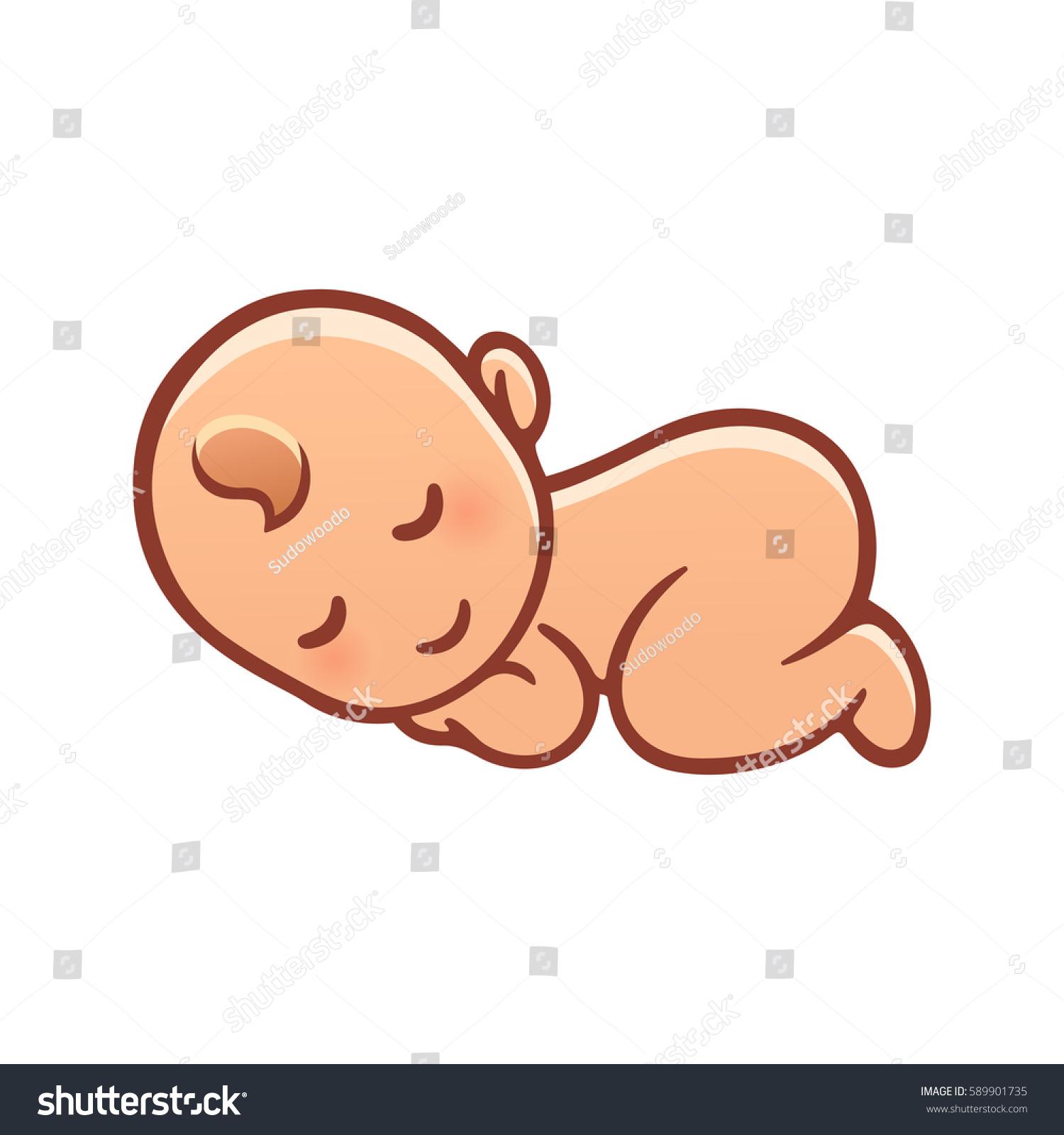 1500x1600 Baby Cartoon Drawing Cute Sleeping Baby Drawing Simple Cartoon