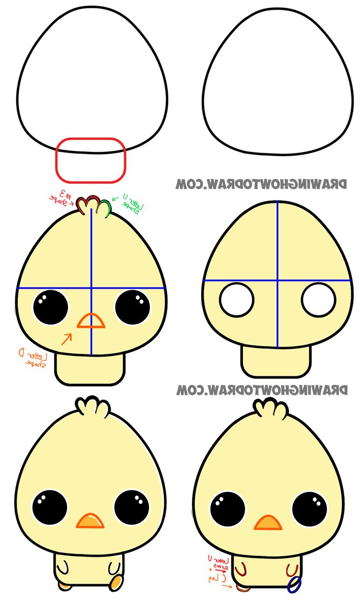 736x1226 Cute Baby Animals To Draw Step By Step Best Drawing Cartoon