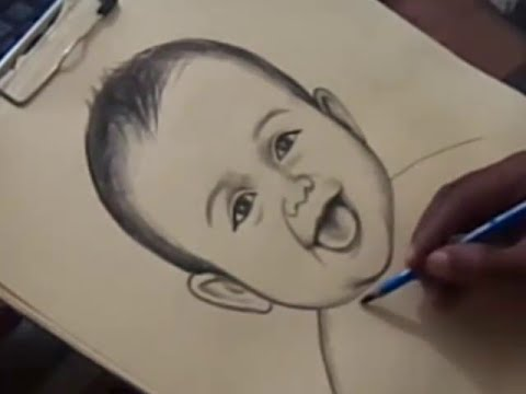 480x360 How To Cute Baby Drawing In Telugu