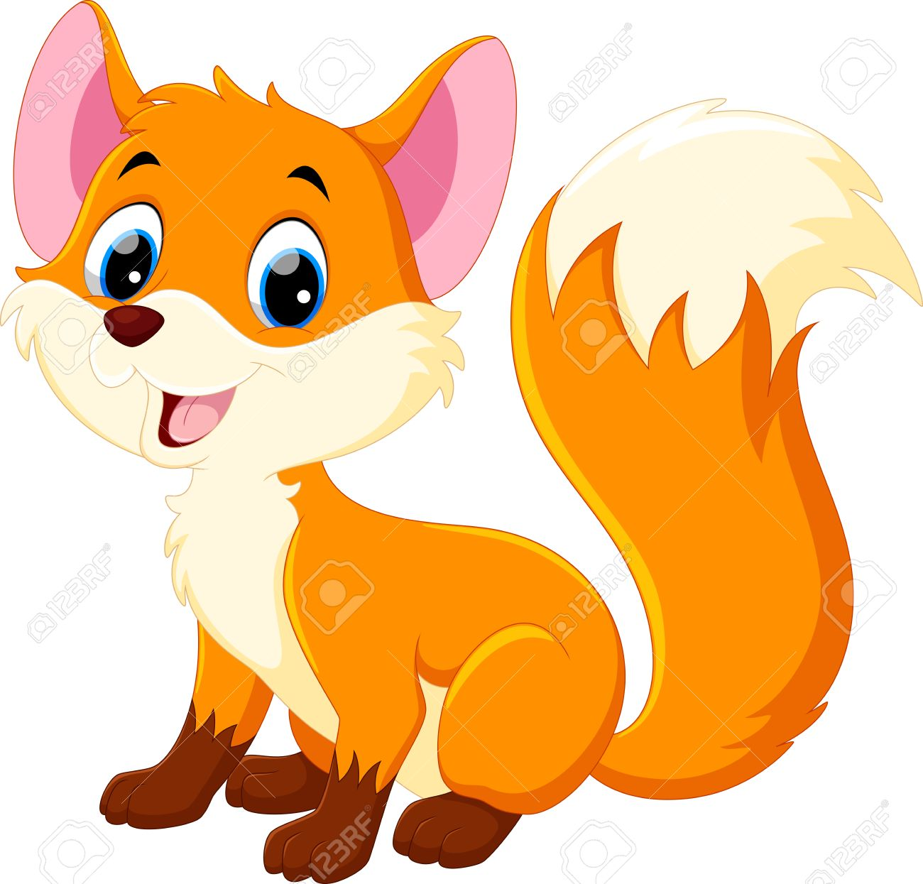 1300x1245 Cute Baby Fox Cartoon Royalty Free Cliparts, Vectors, And Stock