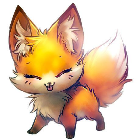 460x460 Cute Little Fox Anime Tattoo Design Foxes, Draw And Animal Drawings