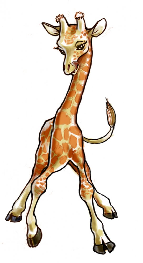 Cute Baby Giraffe Drawing at GetDrawings | Free download
