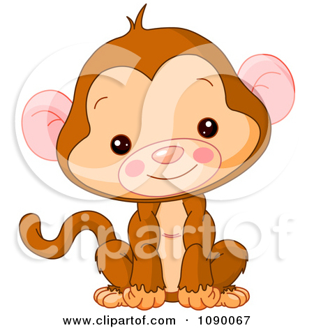 450x470 Cute Baby Monkey Sitting Upright And Smiling Posters, Art Prints