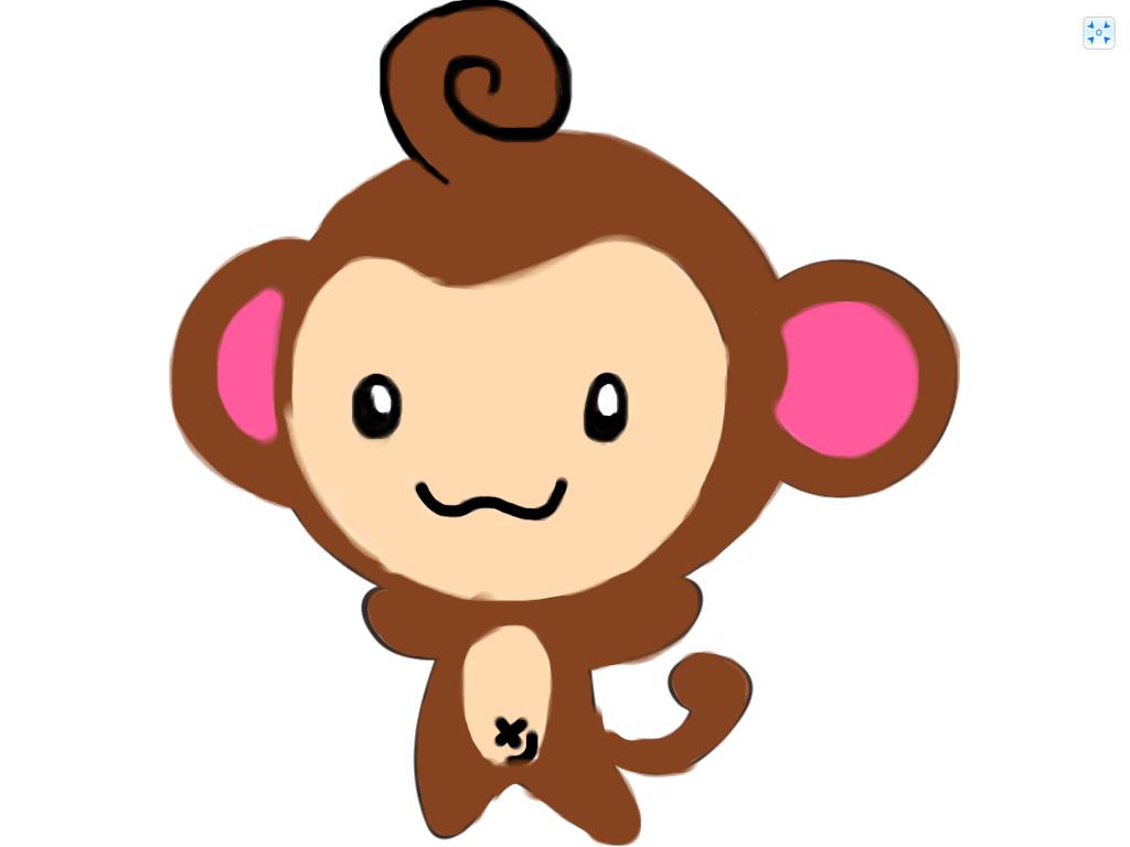 1024x768 Cute Monkey Drawings Cute Baby Monkey Drawings Free Download