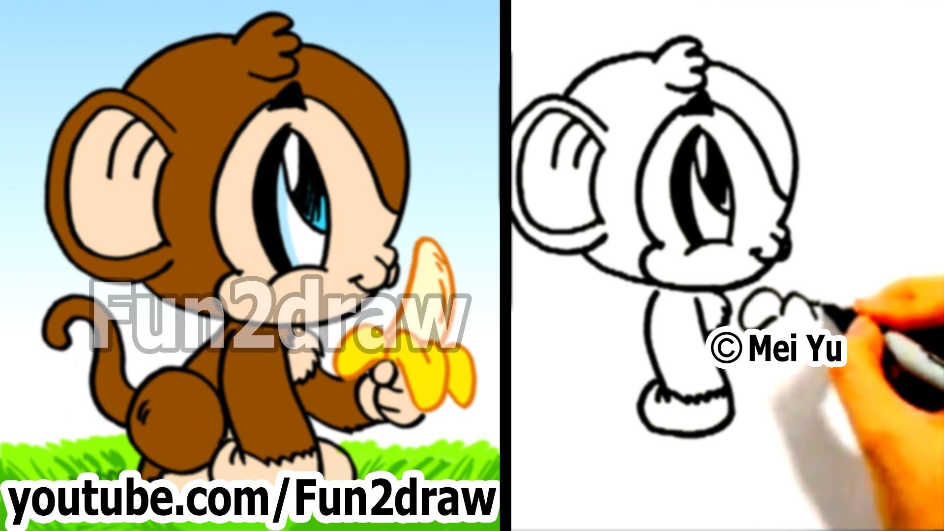 1920x1080 How To Draw A Cartoon Monkey